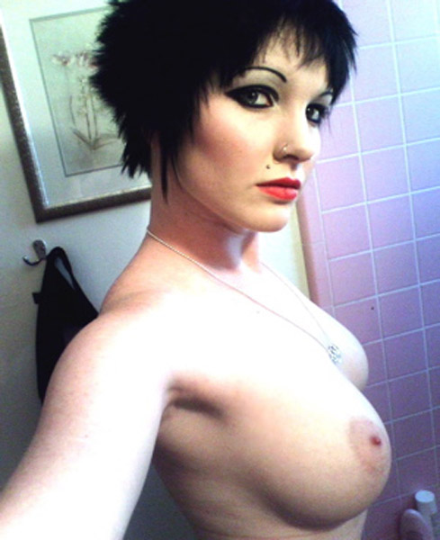 Personal Sexy emo girl with short hair nude with