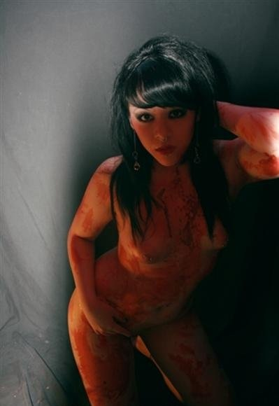 hot sexy gothic girls covered in blood gore