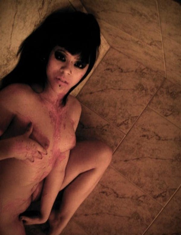 Emo girl bloody naked sorry, that