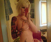 Blonde Tattooed Emo Slut